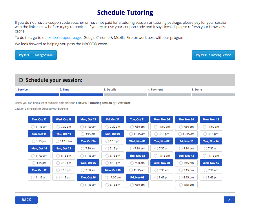 9. Booking system for Tutors